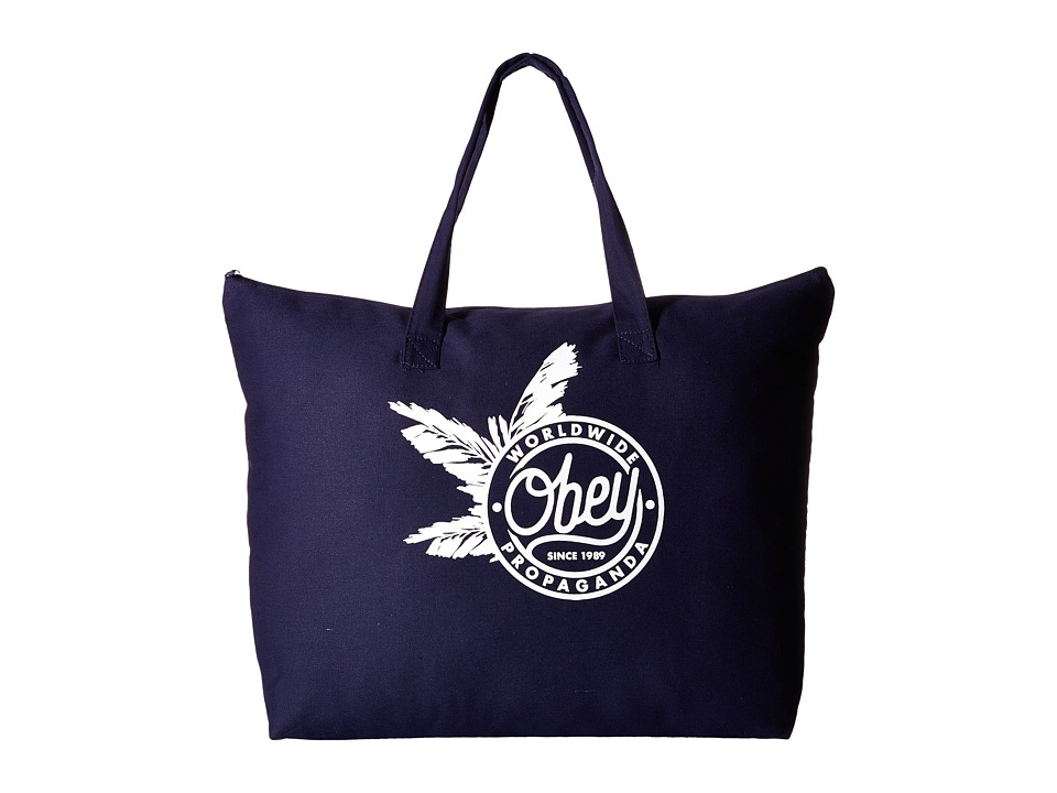 Obey - Obey Palms Tote (Navy) Tote Handbags