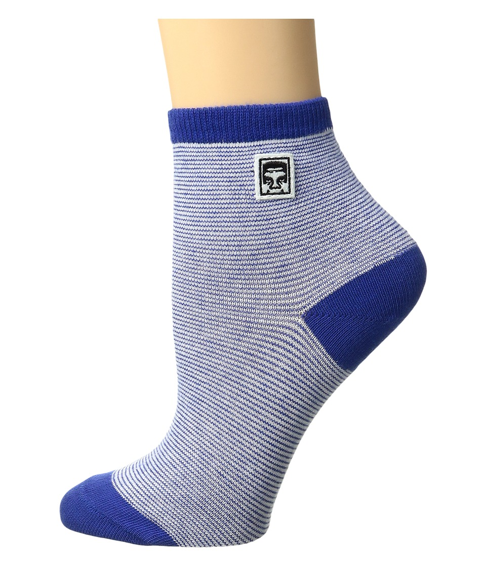 Obey - Piper Ankle Sock (Blue Multi) Women's Crew Cut Socks Shoes