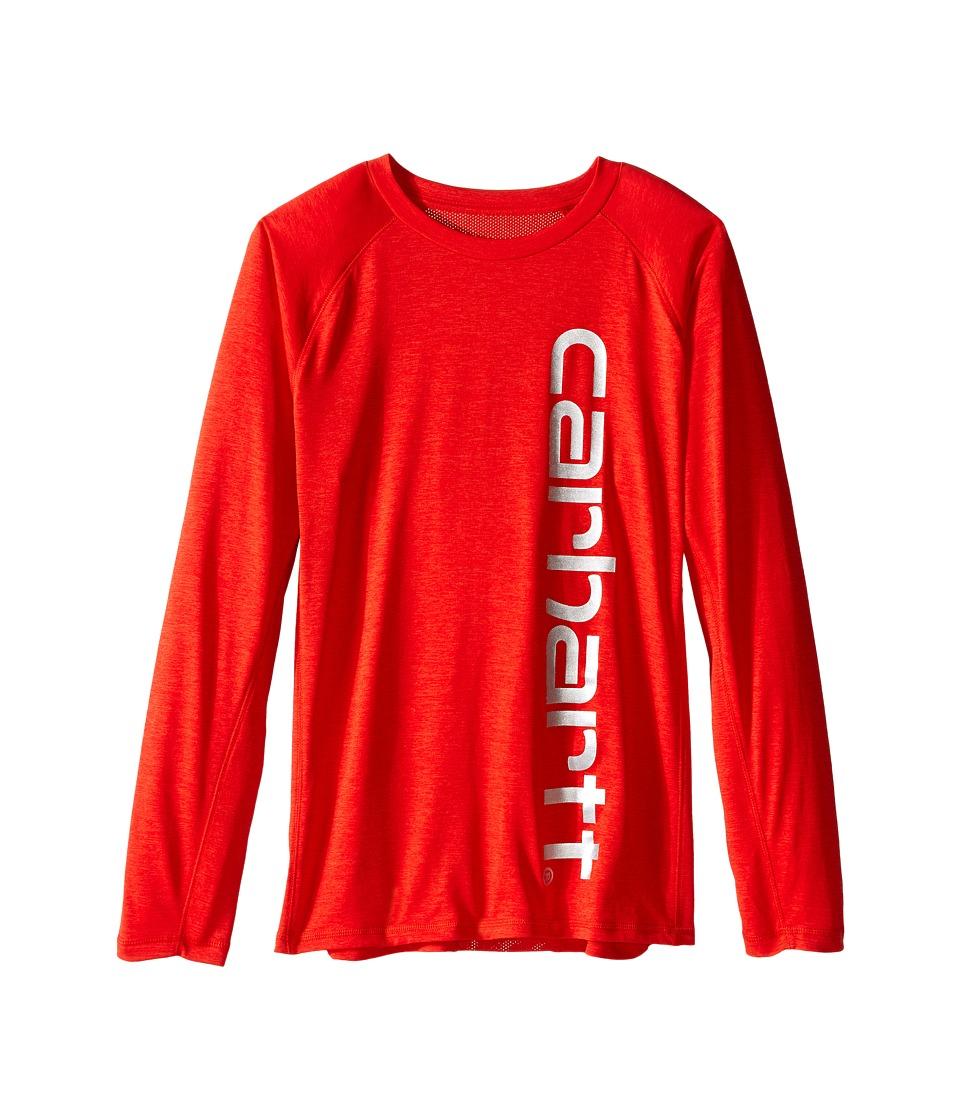 Carhartt Kids - Force Logo Tee (Big Kids) (Fiery Red Heather) Boy's T Shirt