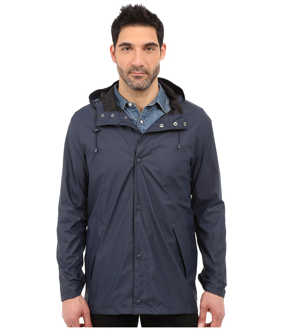 Cole Haan - 32 Rubberized Rain Jacket (Navy) Men's Coat