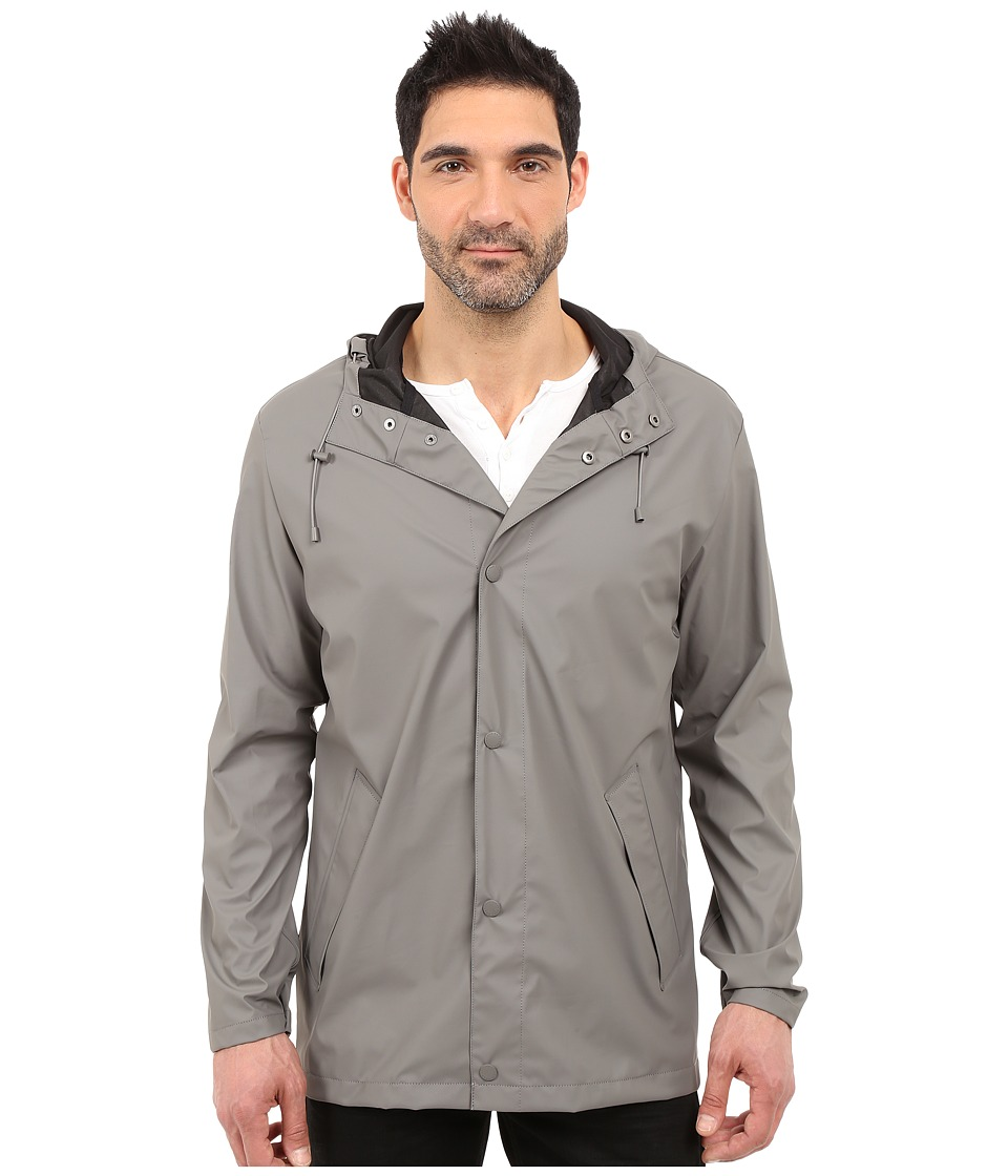 Cole Haan - 32 Rubberized Rain Jacket (Ironstone) Men