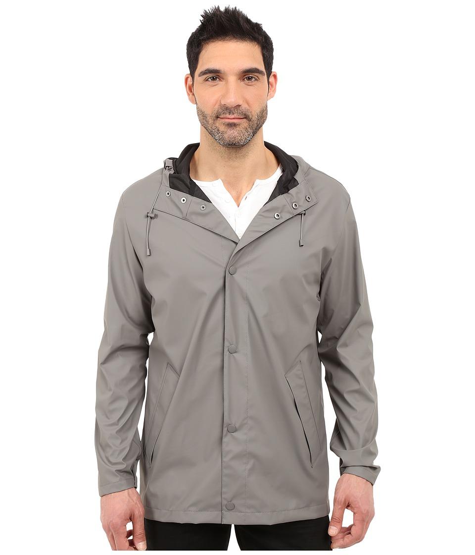 Cole Haan - 32 Rubberized Rain Jacket (Navy) Men's Coat