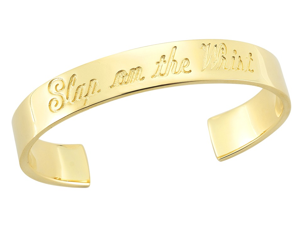 Elizabeth and James - Slap on the Wrist Bangle (Yellow Gold) Bracelet