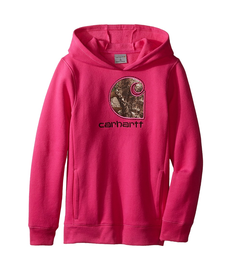 Carhartt Kids - Realtree Xtra C Hoodie (Big Kids) (Raspberry Rose) Girl's Sweatshirt