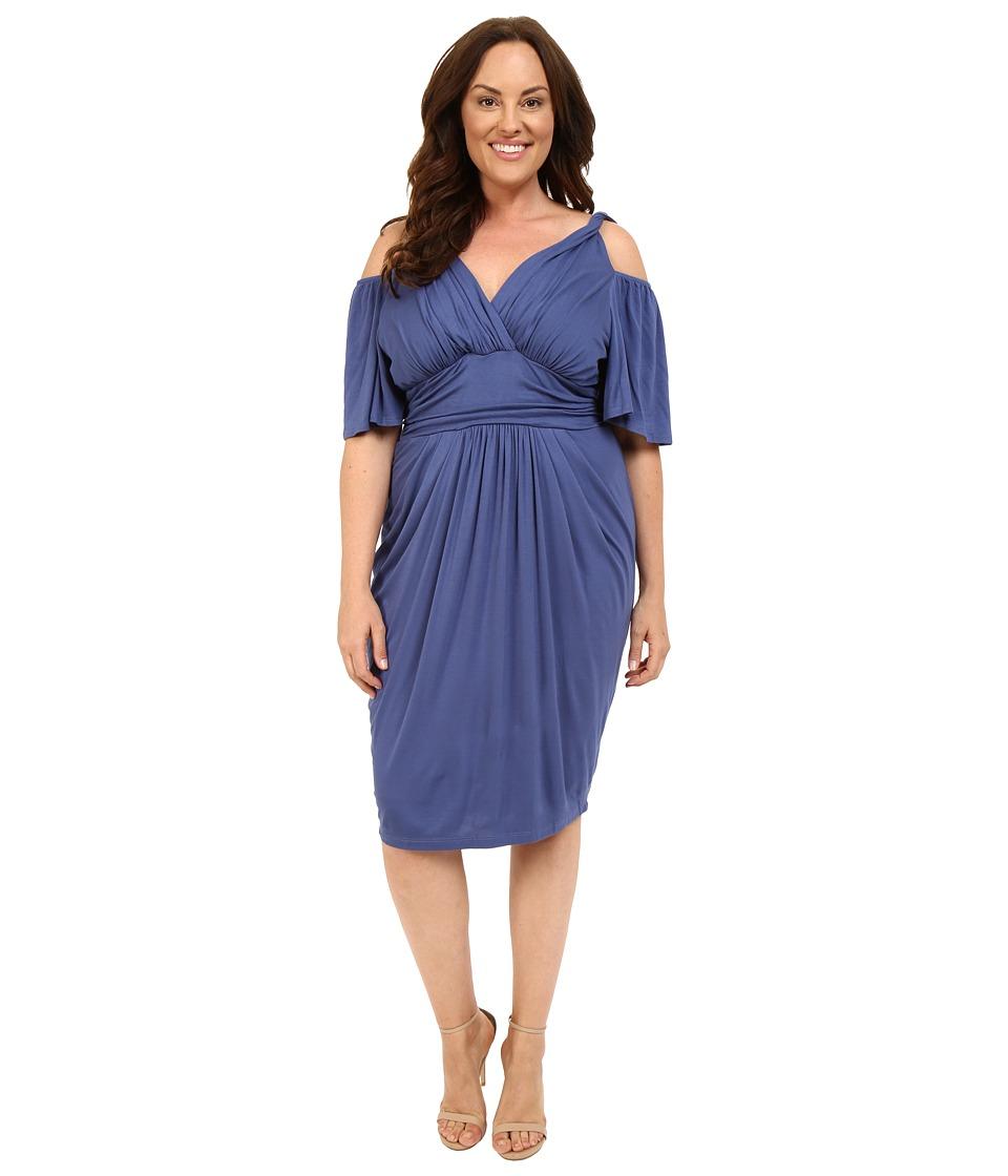 Kiyonna Tantalizing Twist Dress (Vintage Blue) Women