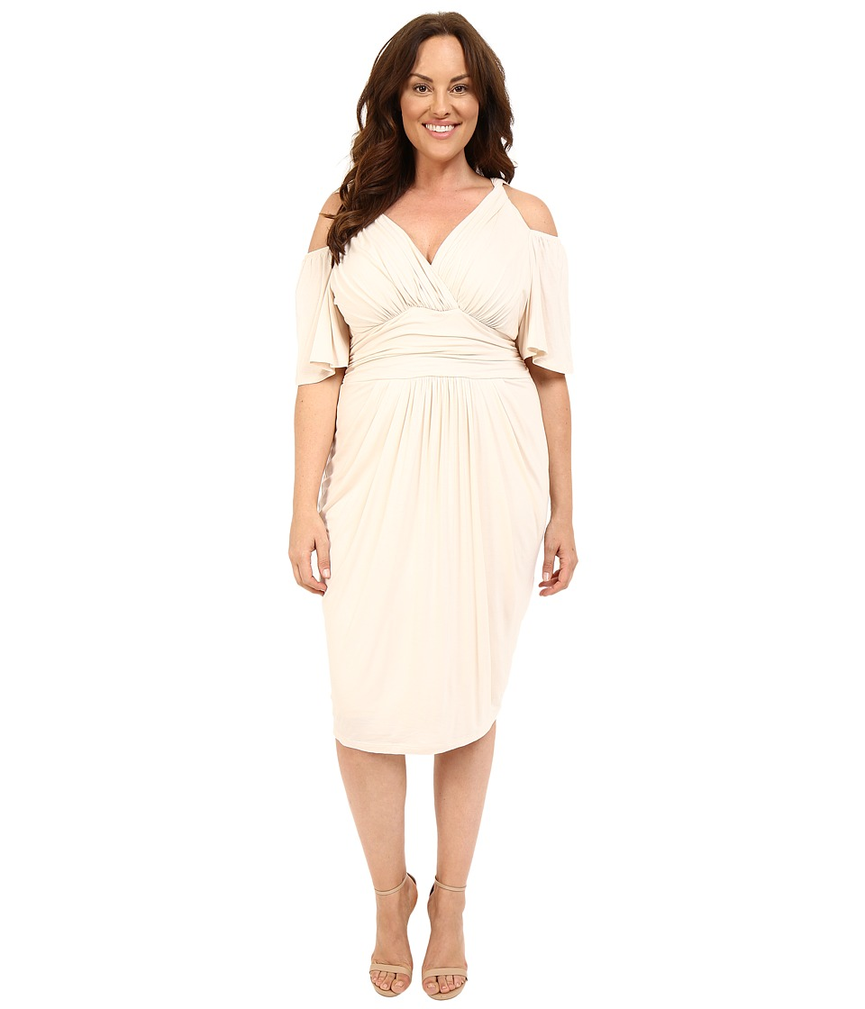 Kiyonna - Tantalizing Twist Dress (Porcelain) Women's Dress