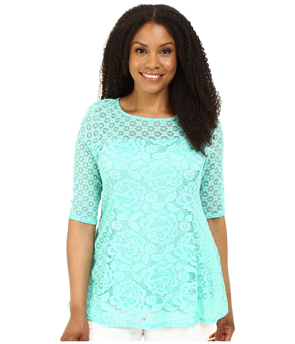 Kiyonna - Delicate Dream Top (Mint Parfait) Women's Clothing