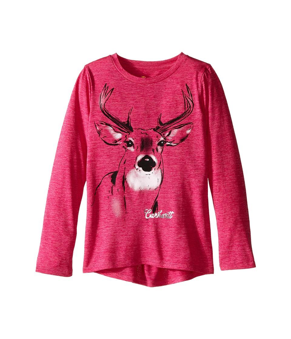 Carhartt Kids - Photoreal Deer Force Tee (Little Kids) (Charcoal Grey Heather) Girl's T Shirt