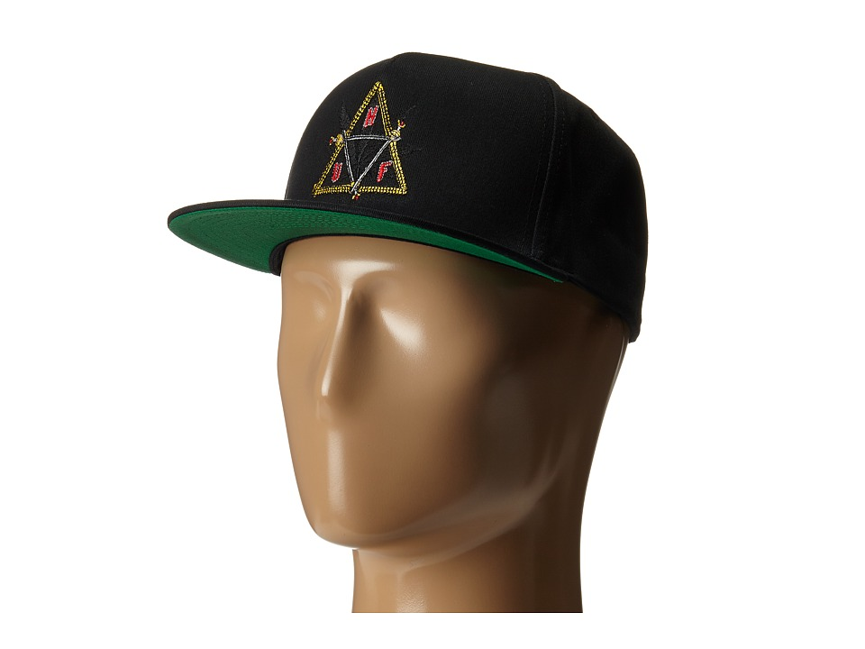 HUF - Swords Triple Triangle Snapback (Black) Caps