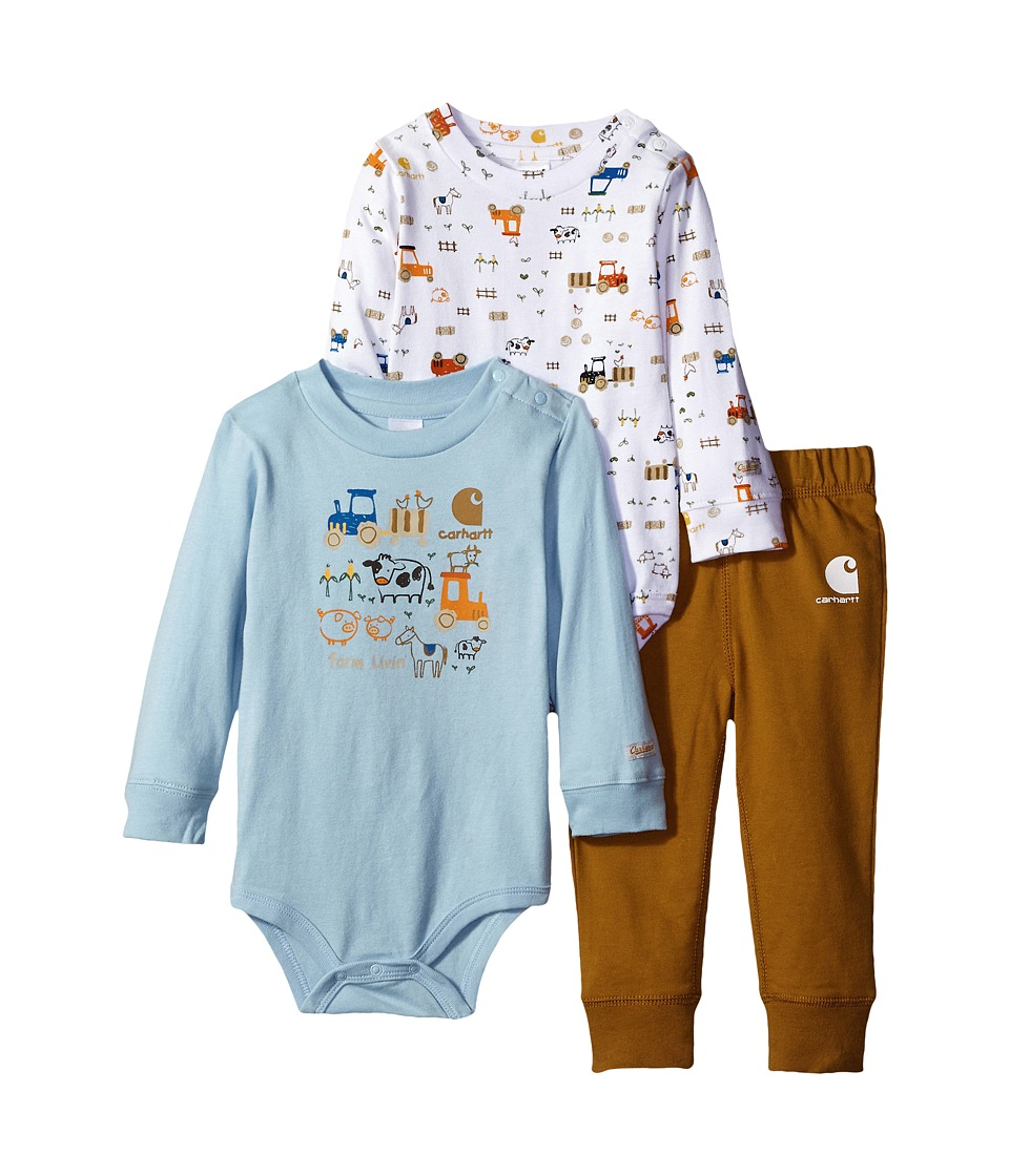 Carhartt Kids - Little Farmer Three-Piece Gift Set (Infant) (Carhartt Brown) Boy's Active Sets
