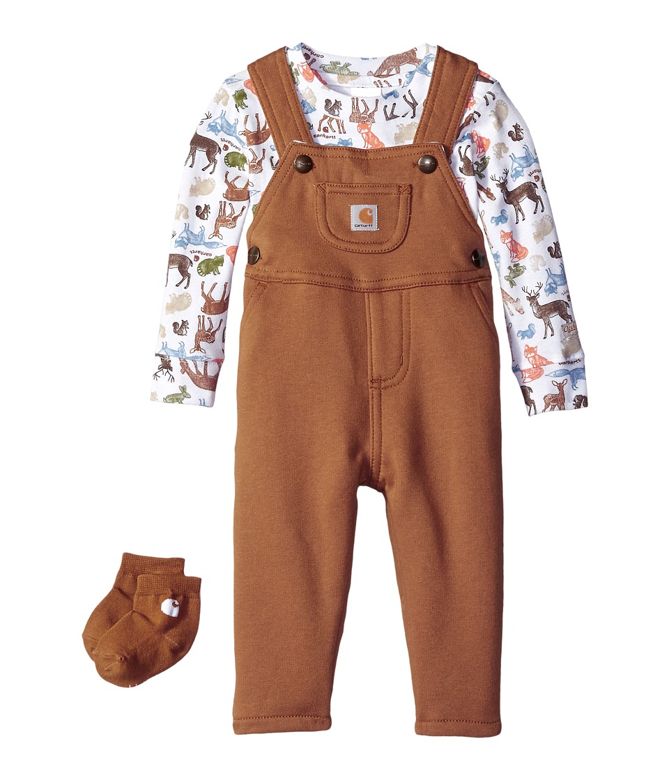 Carhartt Kids - Forest Friends Three-Piece Gift Set (Infant) (Carhartt Brown) Boy's Active Sets