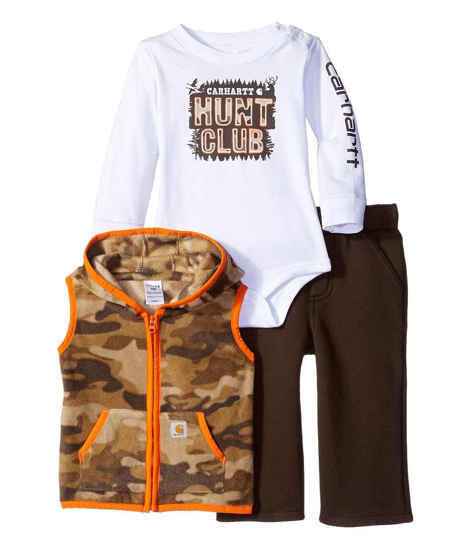 Carhartt Kids - Hunt Club Pant Three-Piece Set (Infant) (Tan Camo) Boy's Active Sets