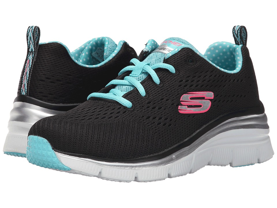 SKECHERS - Statement Piece (Black/Blue) Women's Shoes