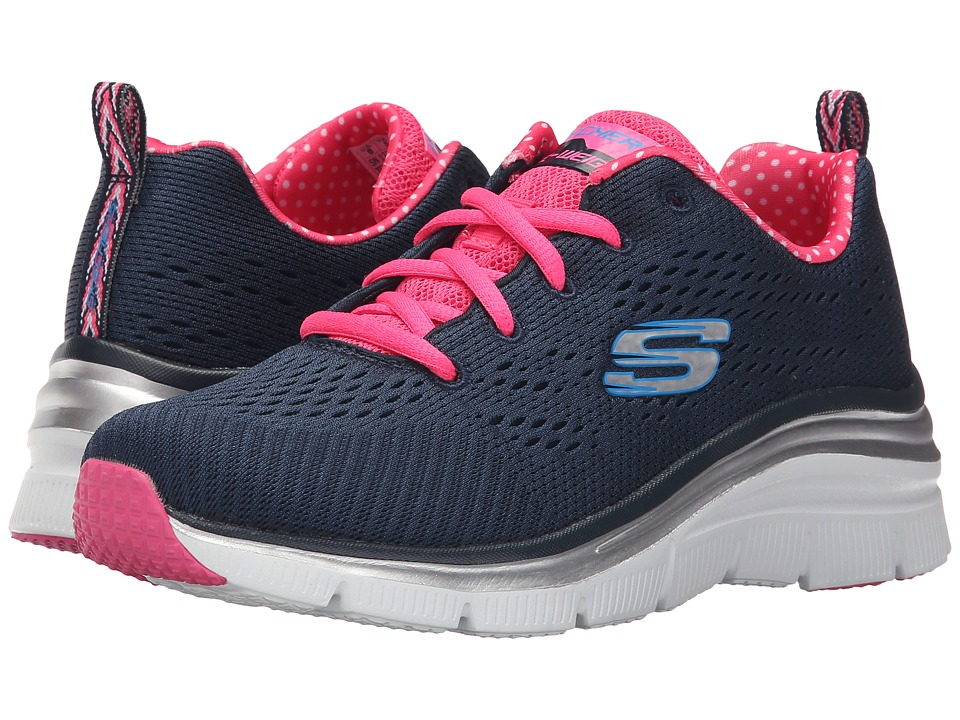 SKECHERS - Statement Piece (Navy/Pink) Women's Shoes