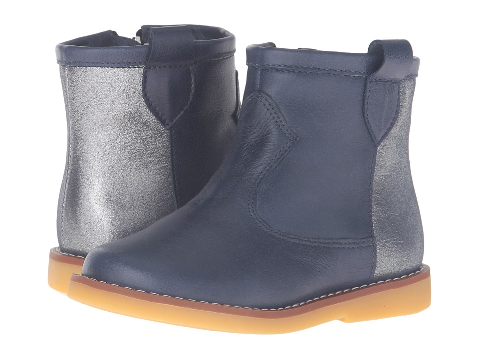 Elephantito - Color Block Bootie (Toddler/Little Kid/Big Kid) (Blue) Girls Shoes