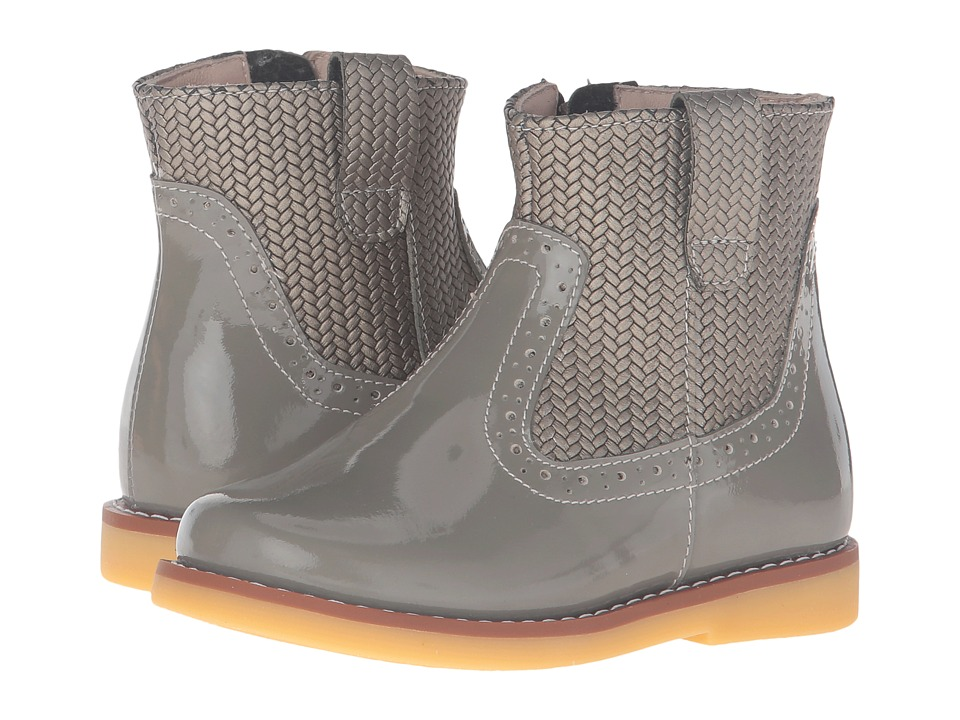 Elephantito - Madison Ankle Boot (Toddler/Little Kid/Big Kid) (Gray) Girls Shoes
