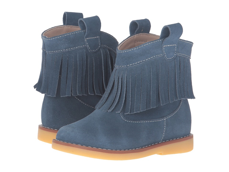 Elephantito Bootie w/ Fringes (Toddler/Little Kid/Big Kid) (Suede Teal) Girls Shoes