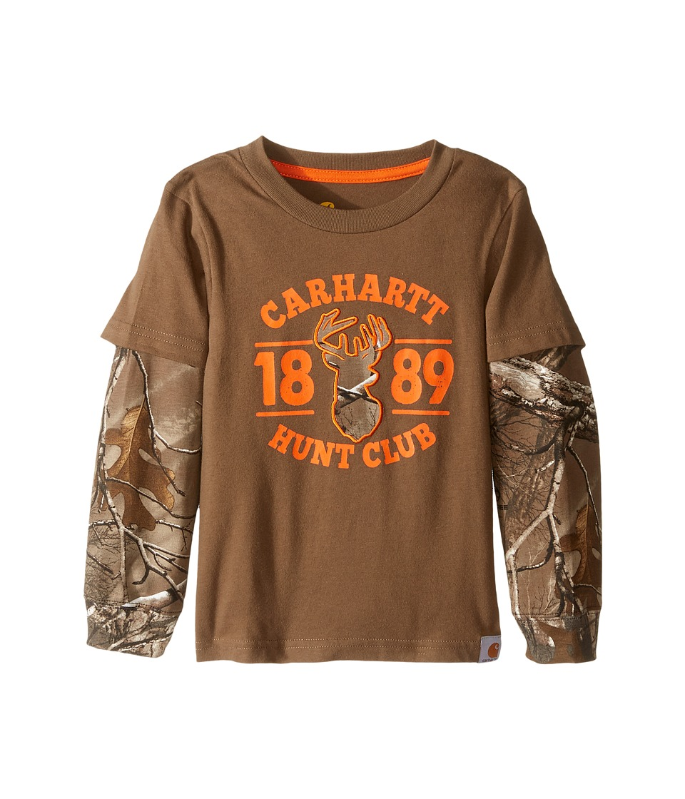Carhartt Kids - Hunt Club Layered Tee (Toddler) (Canyon Brown) Boy's T Shirt