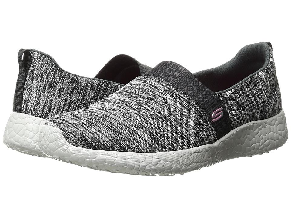 SKECHERS - Burst - Blown Away (Black/Gray) Women's Slip on Shoes