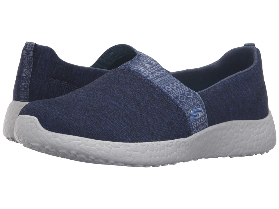 SKECHERS - Burst - Blown Away (Navy) Women's Slip on Shoes