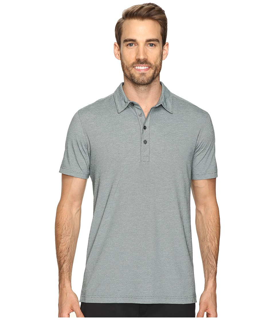 PUMA Golf - Short Sleeve Tailored Micro Stripe Polo (Ponderosa Pin) Men's Short Sleeve Pullover
