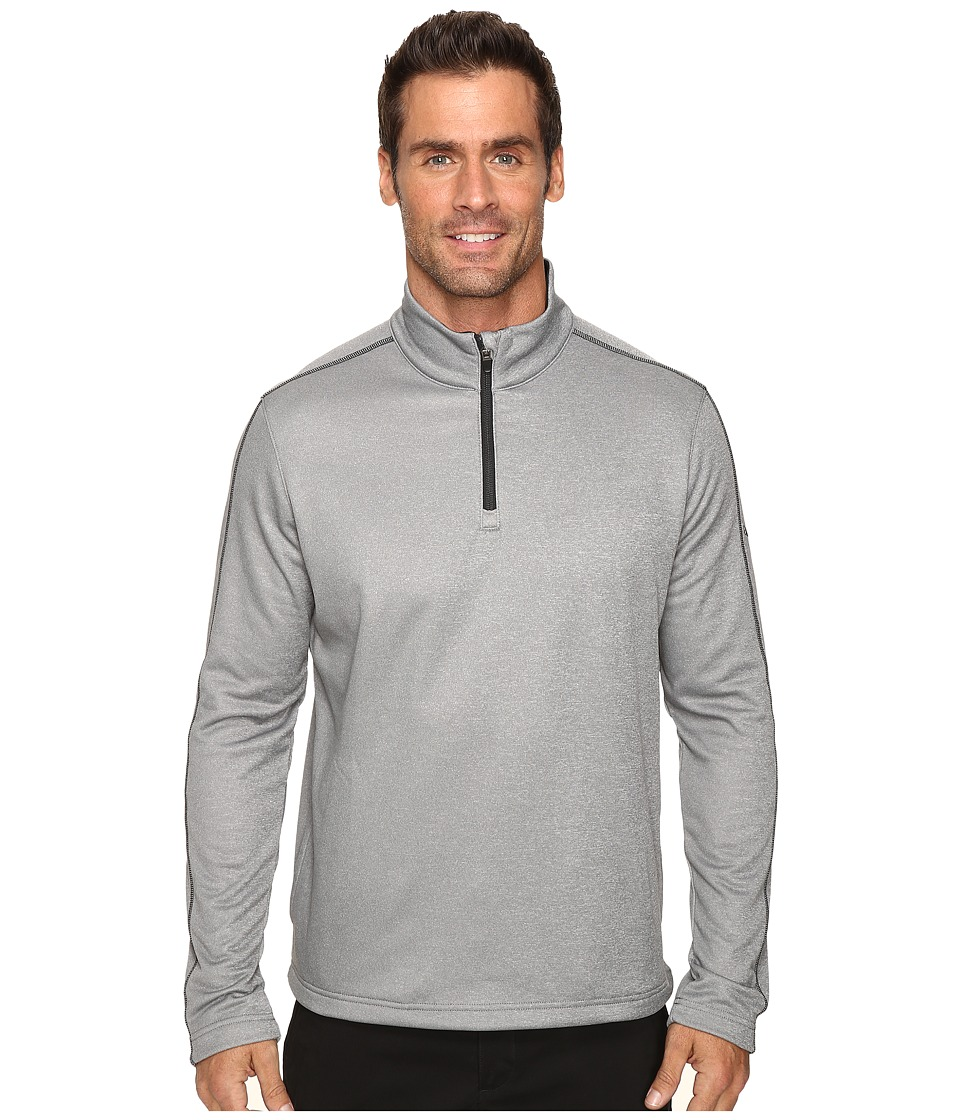 PUMA Golf - Core Fleece 1/4 Zip Popover (Medium Grey Heather) Men's Short Sleeve Pullover