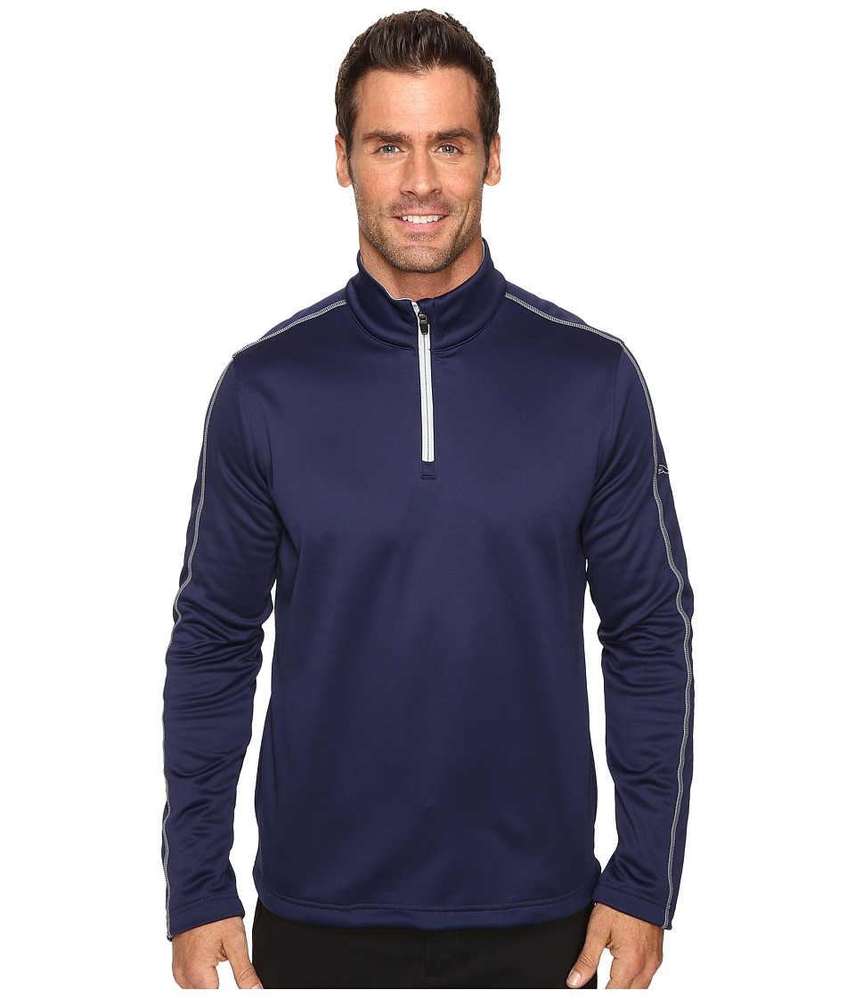 PUMA Golf - Core Fleece 1/4 Zip Popover (Peacoat) Men's Short Sleeve Pullover