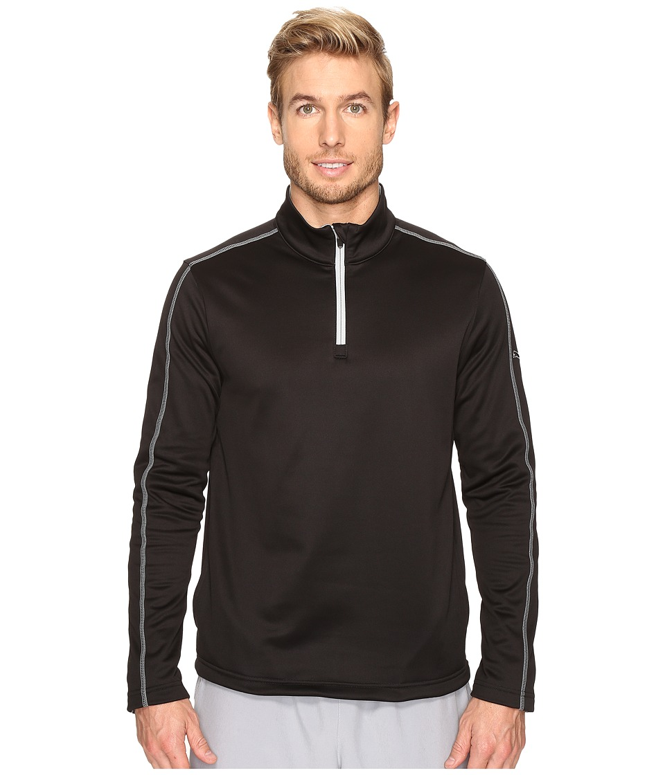 PUMA Golf - Core Fleece 1/4 Zip Popover (Black) Men's Short Sleeve Pullover