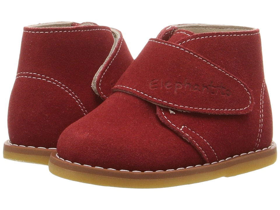 Elephantito Suede Bootie (Toddler) (Red) Kids Shoes