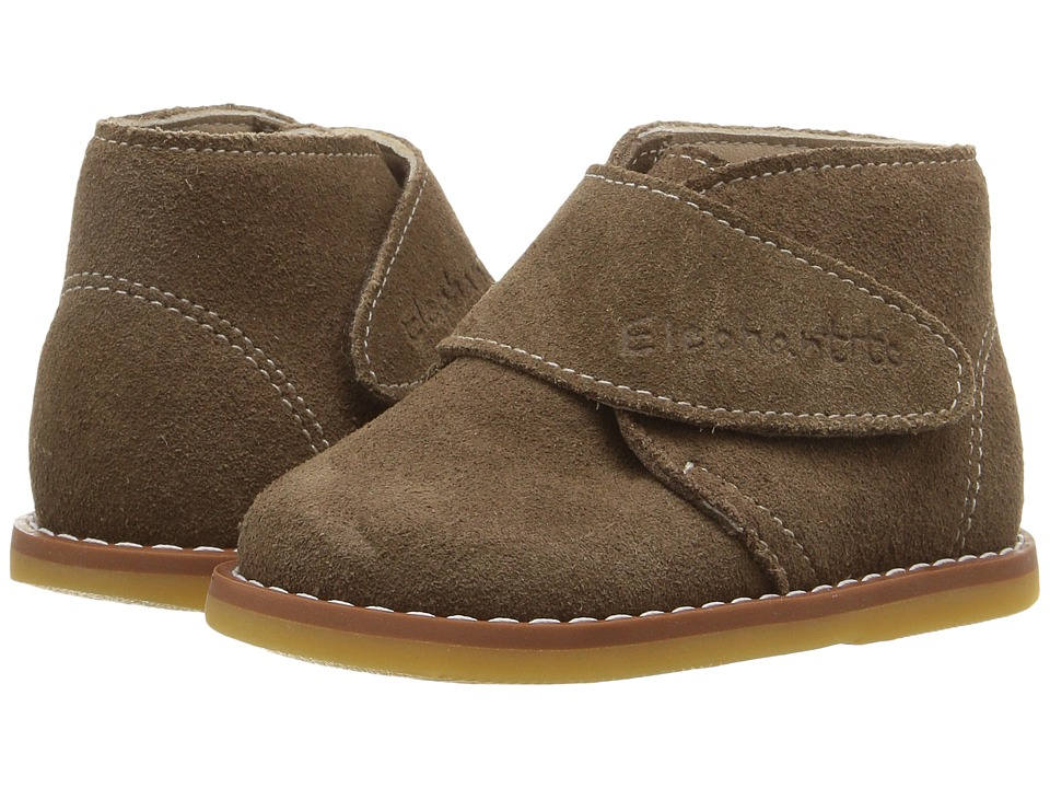 Elephantito - Suede Bootie (Toddler) (Brown) Kids Shoes