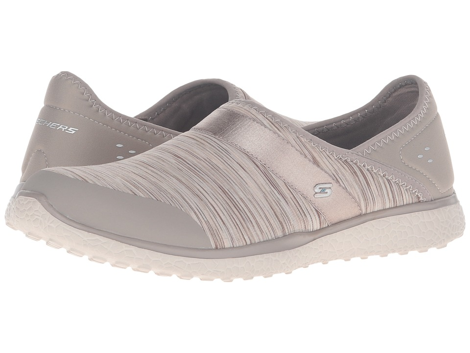 SKECHERS - Mircroburst - Greatness (Taupe) Women's Slip on Shoes