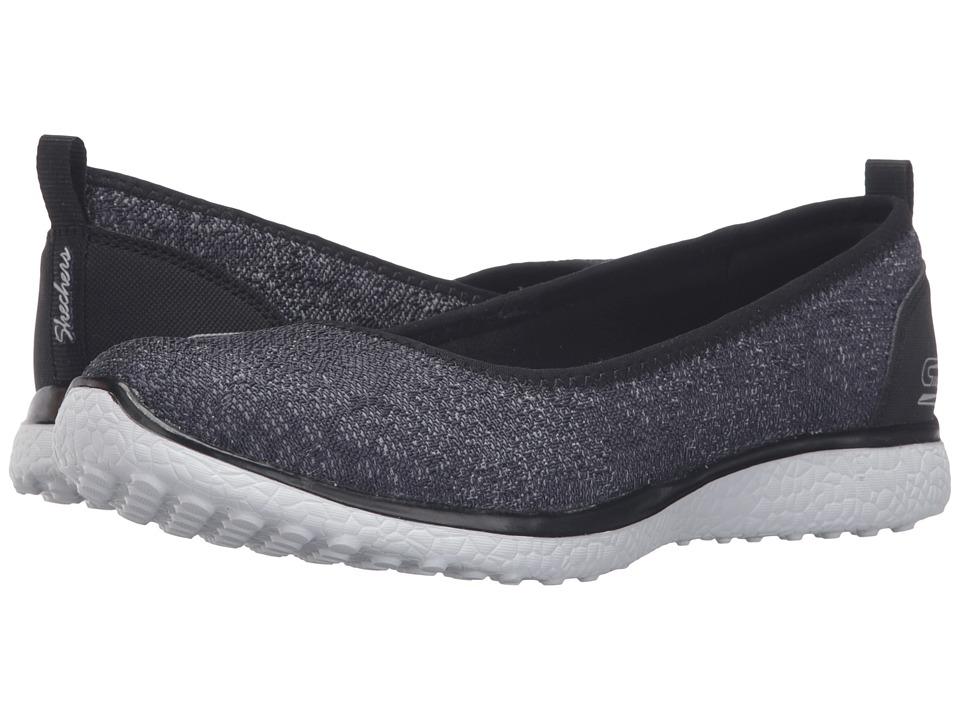 SKECHERS - Microburst - Hype-Up (Black/White) Women's Slip on Shoes