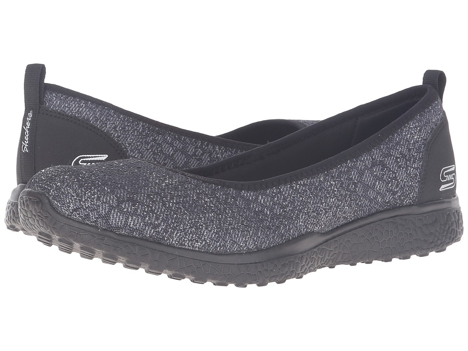 SKECHERS - Microburst - Hype-Up (Black) Women's Slip on Shoes