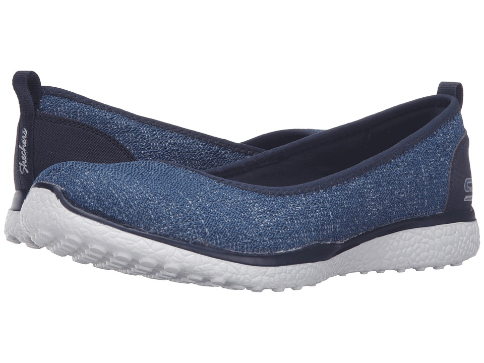 SKECHERS - Microburst - Hype-Up (Navy) Women's Slip on Shoes