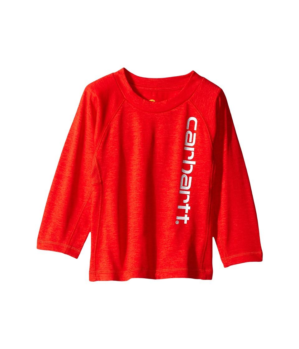 Carhartt Kids - Force Logo Raglan Tee (Infant) (Fiery Red Heather) Boy's T Shirt