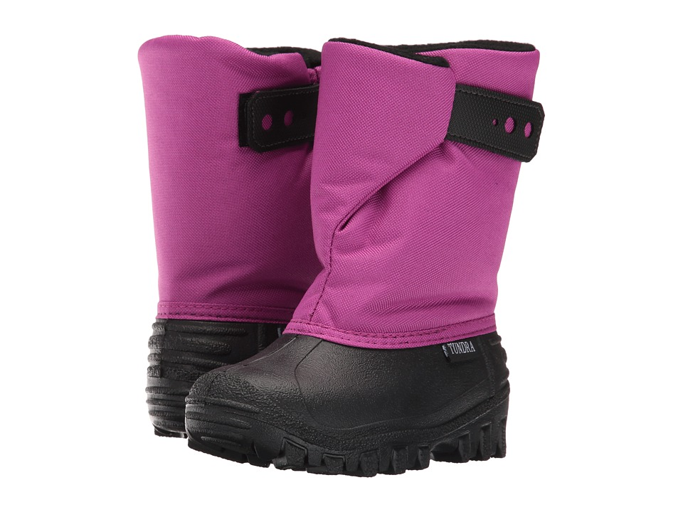 Tundra Boots Kids - Teddy (Toddler/Little Kid) (Black/Magenta) Girls Shoes