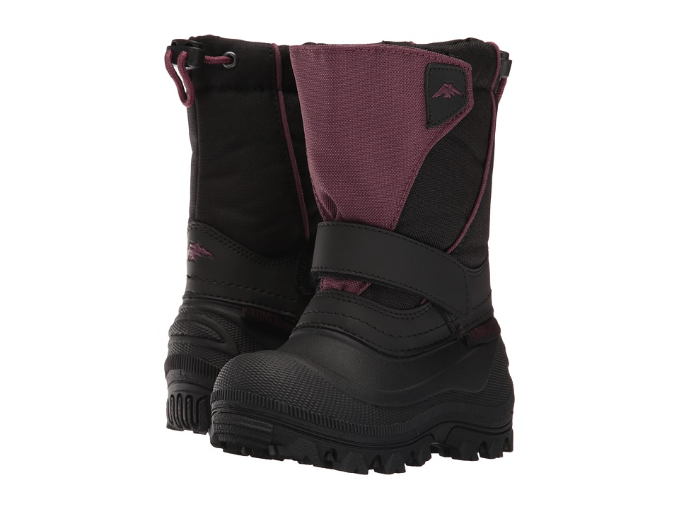 Tundra Boots Kids - Quebec-Wide (Toddler/Little Kid/Big Kid) (Black/Marsala) Girls Shoes