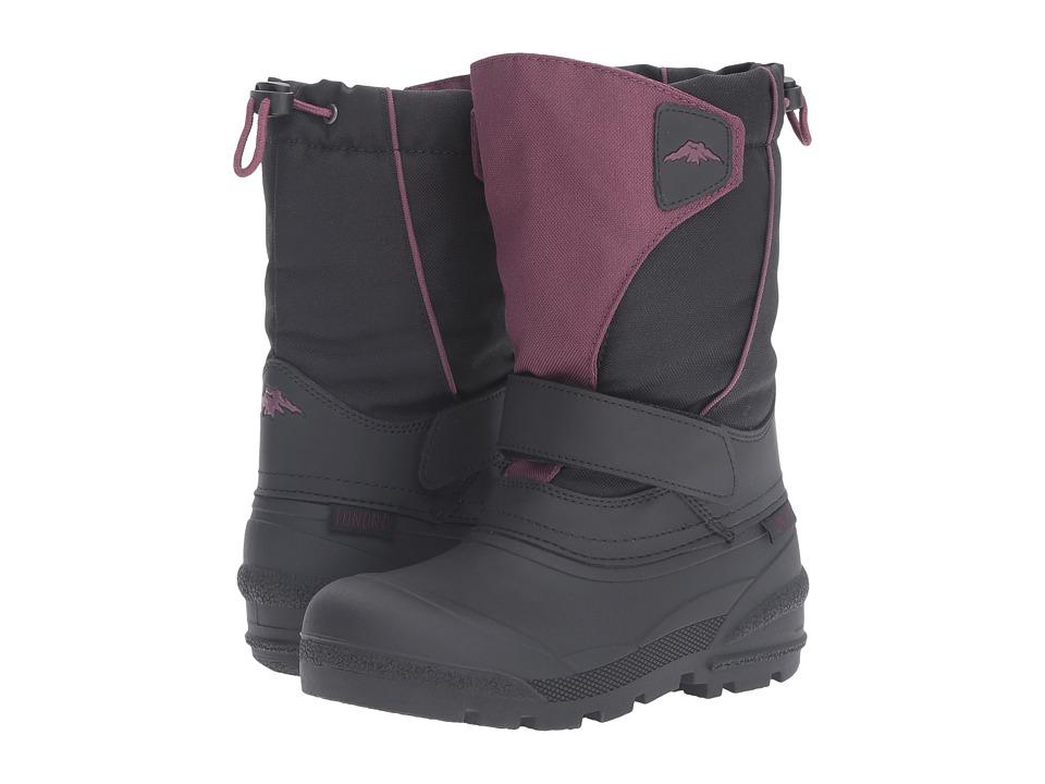 Tundra Boots Kids - Quebec (Toddler/Little Kid/Big Kid) (Black/Marsala) Girls Shoes