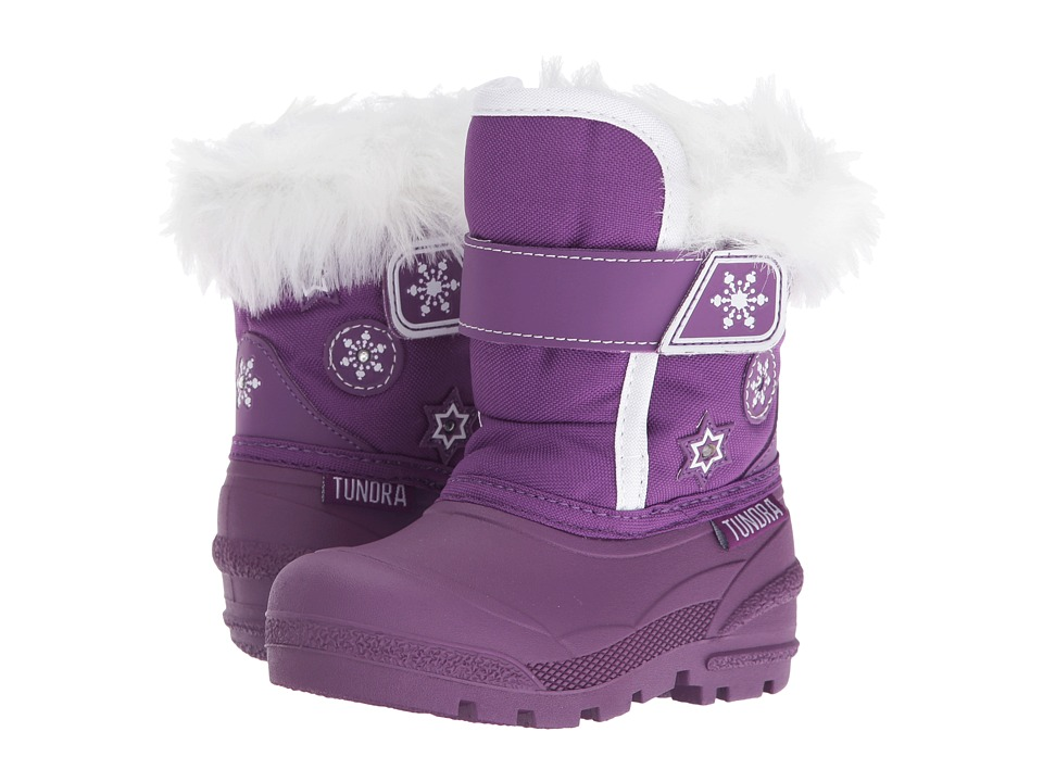 Tundra Boots Kids - Midnight (Toddler) (Purple) Girls Shoes
