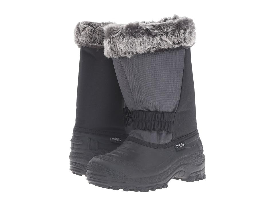 Tundra Boots Kids Glacier Misses (Little Kid/Big Kid) (Black/Charcoal) Girls Shoes
