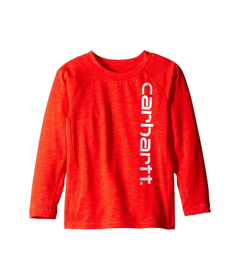 Carhartt Kids - Force Logo Raglan Tee (Toddler) (Fiery Red Heather) Boy's T Shirt