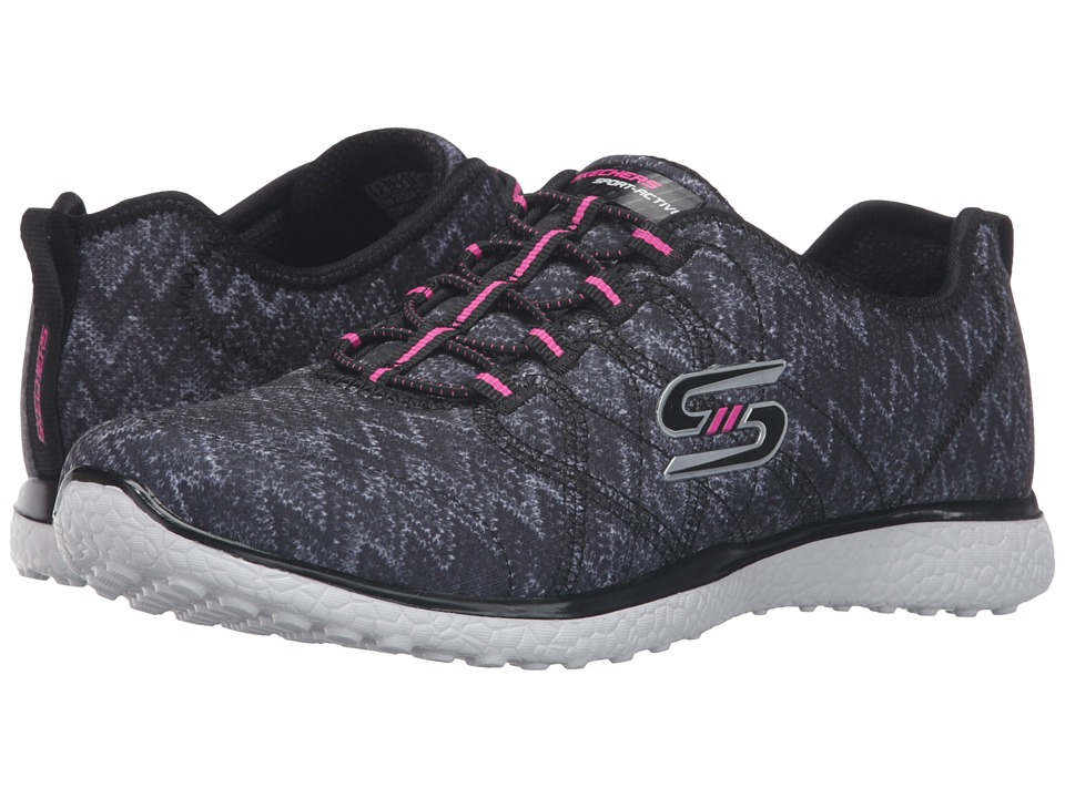 SKECHERS - Microburst - Fluctuate (Black/White) Women's Shoes