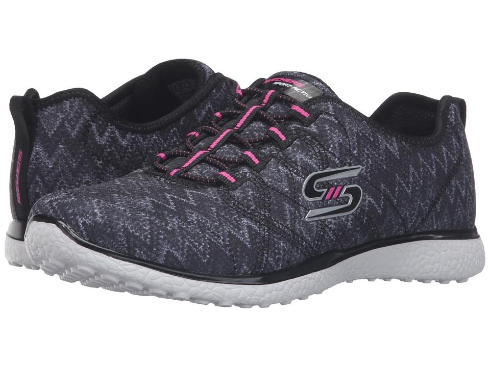 SKECHERS - Microburst - Fluctuate (Black/White) Women's Shoes