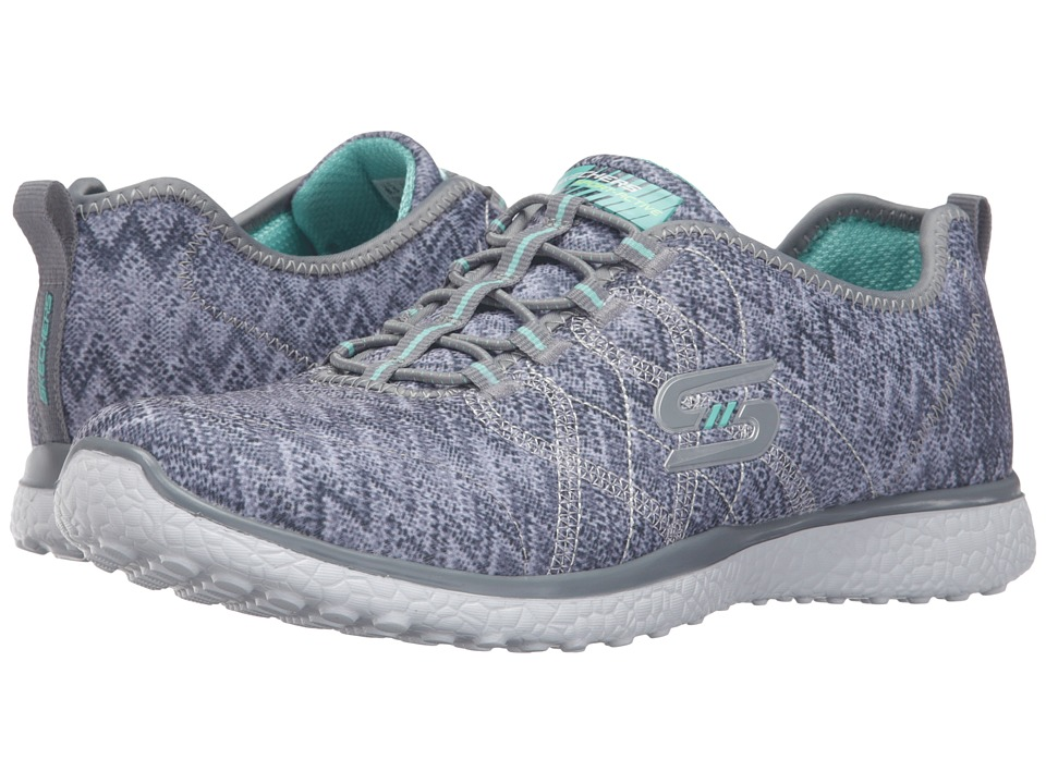SKECHERS - Microburst - Fluctuate (Gray) Women's Shoes