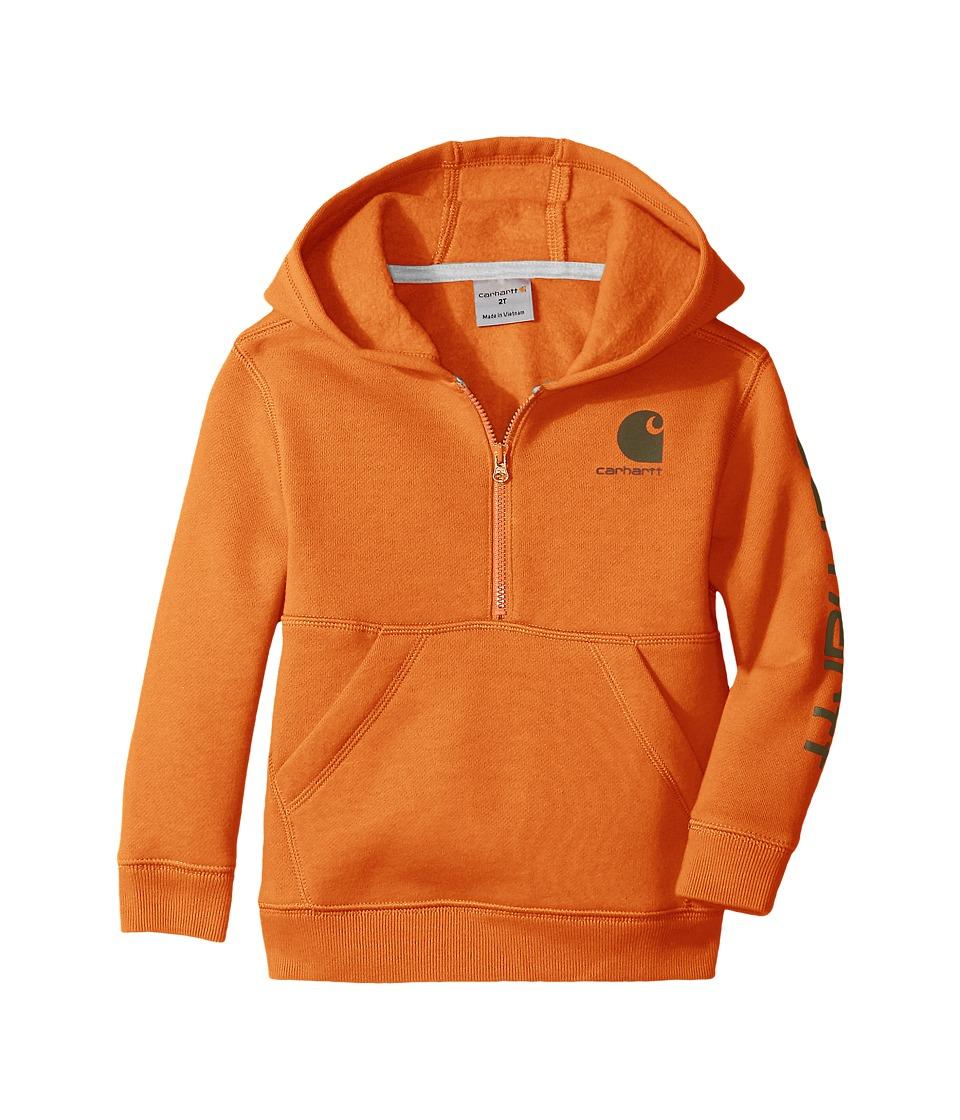 Carhartt Kids - Logo Fleece 1/2 Zip Sweatshirt (Infant) (Puffin's Bill) Boy's Sweatshirt