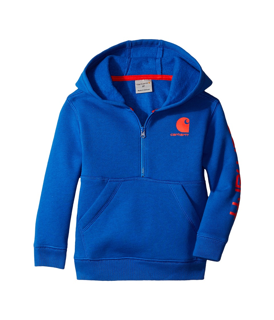 Carhartt Kids - Logo Fleece 1/2 Zip Sweatshirt (Infant) (Olympian Blue) Boy's Sweatshirt