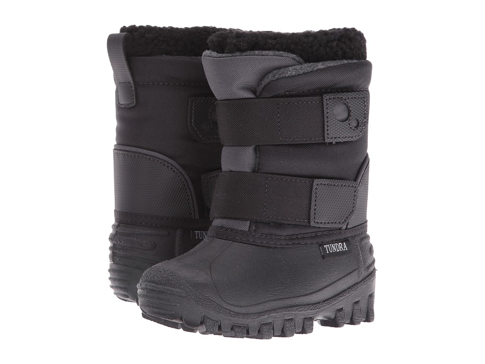Tundra Boots Kids - Explorer (Toddler/Little Kid) (Black) Boys Shoes