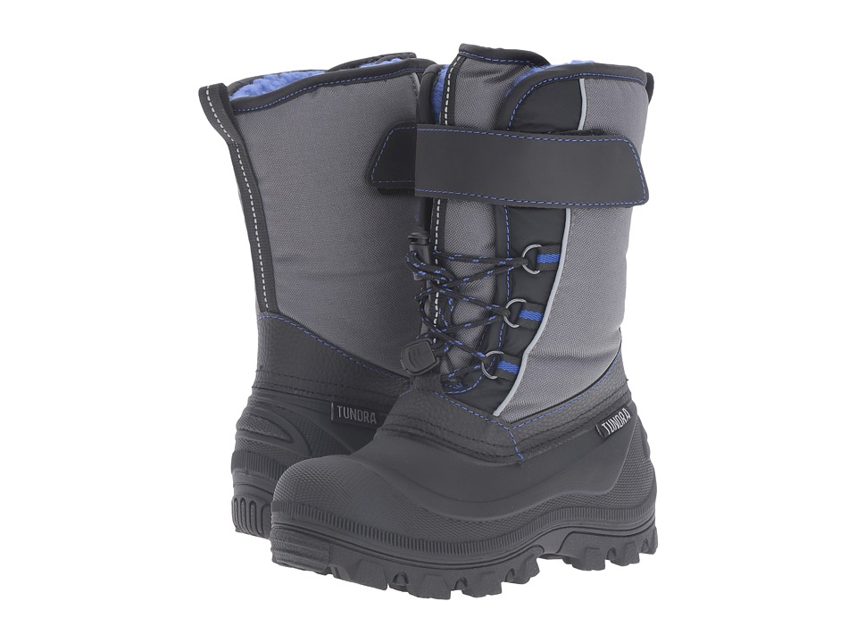 Tundra Boots Kids - Nova (Little Kid/Big Kid) (Black/Royal) Boys Shoes
