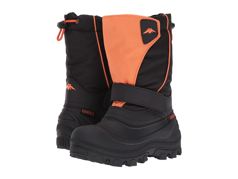 Tundra Boots Kids - Quebec-Wide (Toddler/Little Kid/Big Kid) (Black/Orange) Kids Shoes