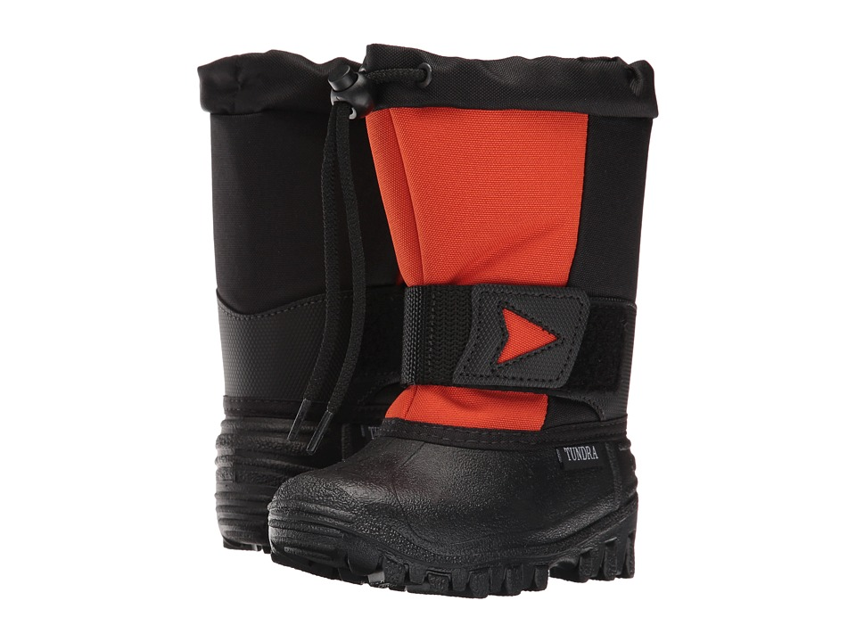 Tundra Boots Kids - Artic Drift (Toddler/Little Kid) (Black/Orange) Kids Shoes